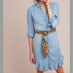 NWT Anthropologie Pilcro Soft Shirtdress